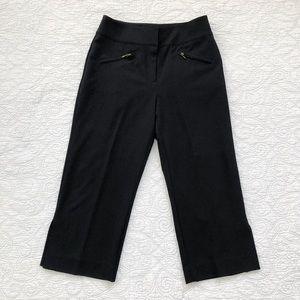 Chico's Black Cropped Wide Leg Pants